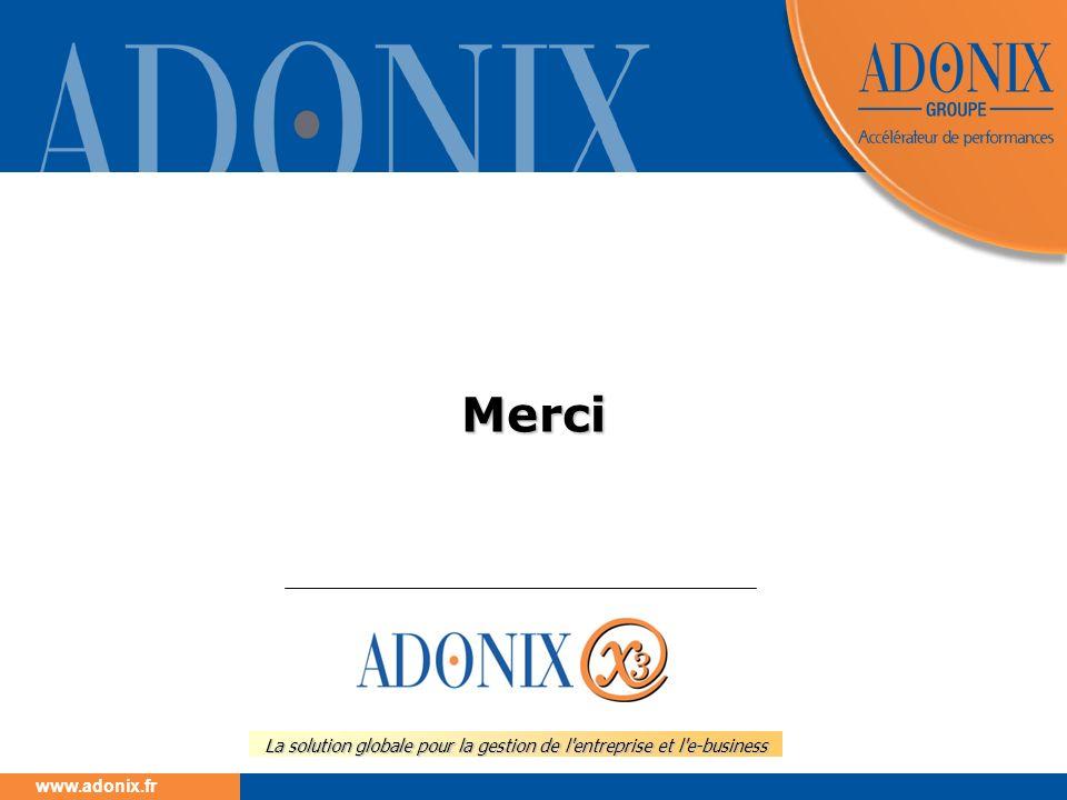 www.adonix.fr La solution globale pour la gestion de l'entreprise et l'e-business Merci