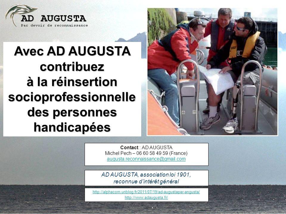 Avec AD AUGUSTA contribuez à la réinsertion socioprofessionnelle des personnes handicapées http://alphacom.unblog.fr/2011/07/19/ad-augustaper-angusta/