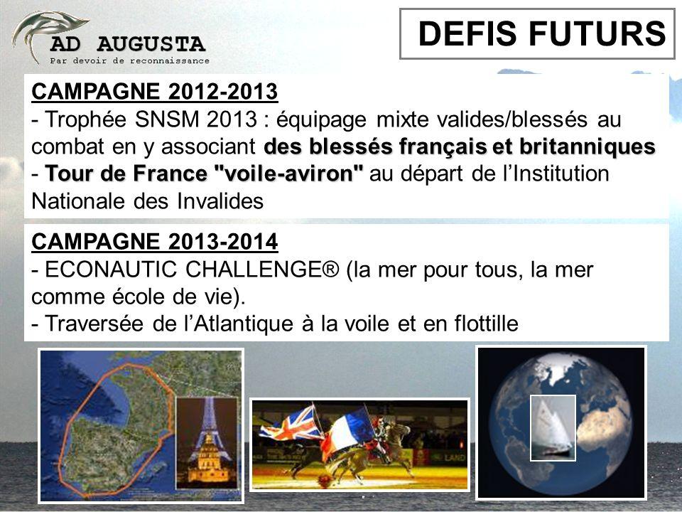 CAMPAGNE 2012-2013 des blessés français et britanniques - Trophée SNSM 2013 : équipage mixte valides/blessés au combat en y associant des blessés fran
