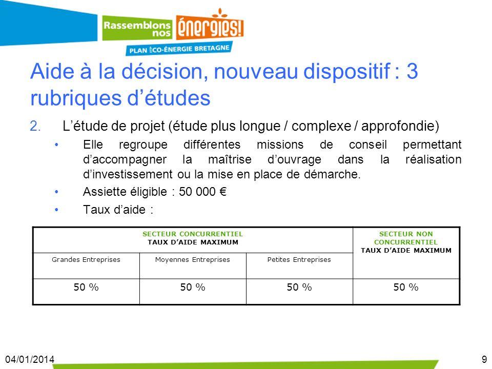 04/01/201410 Létude de projet, quelques exemples : létude de faisabilité Il sagit dune analyse approfondie dune solution préconisée préalablement à la prise de décision dinvestissement.