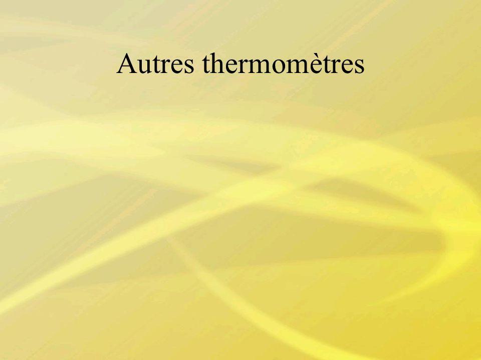 Autres thermomètres
