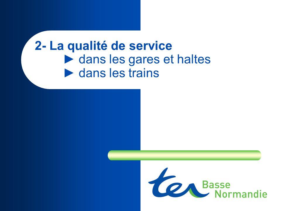 2- La qualité de service dans les gares et haltes dans les trains