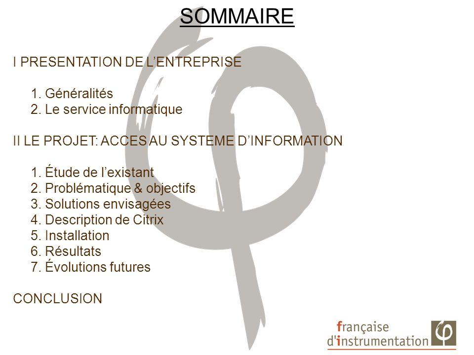 I PRESENTATION DU CONTEXTE 1.GENERALITES