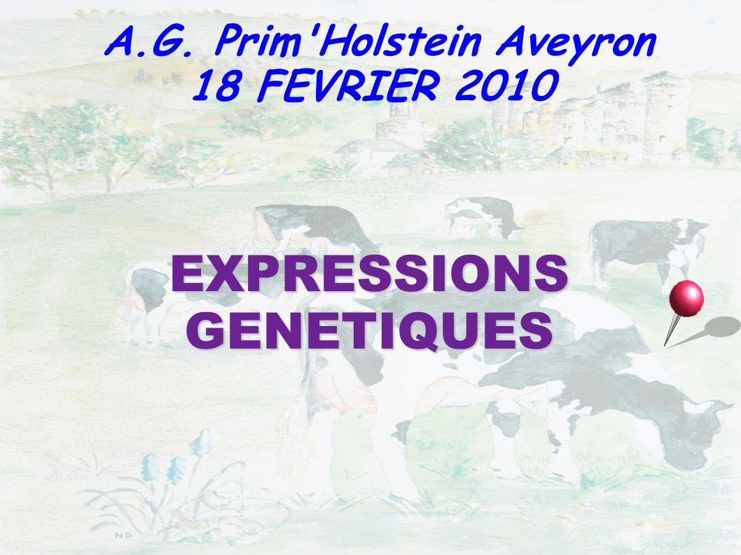 EXPRESSIONS GENETIQUES A.G. Prim'Holstein Aveyron 18 FEVRIER 2010