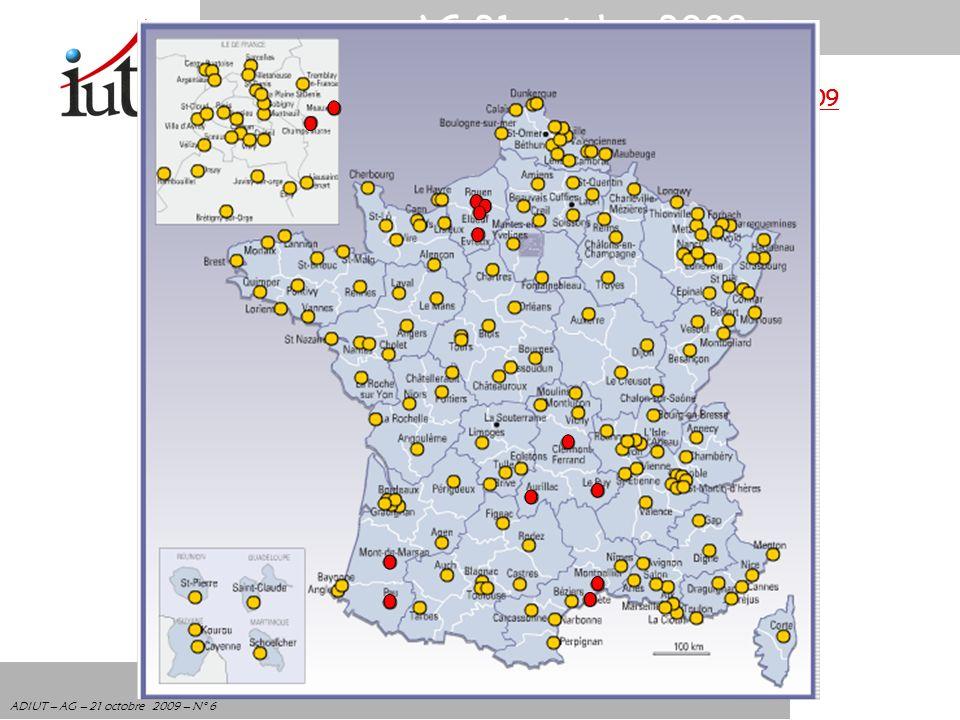 AG 21 octobre 2009 ADIUT – AG – 21 octobre 2009 – N° 6 Non respect de lautonomie des IUT en janvier 2009