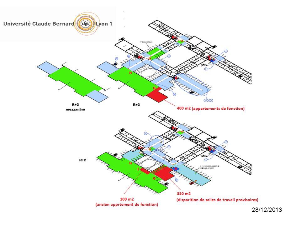 38 Présentation du projet BU/ 1 Une réhabilitation complète de la BU et une extension de ses locaux De nouveaux espaces, différenciés et adaptés aux besoins des usagers : des salles de lecture, mais aussi des carrels individuels, des salles de travail en groupe, des salles de formation Extension de surfaces : 800 m 2 environ R+2 : 1 e extension R+2 (375 m 2 ), 2 e extension = tranche conditionnelle (date affermissement non définie, 130 pl.