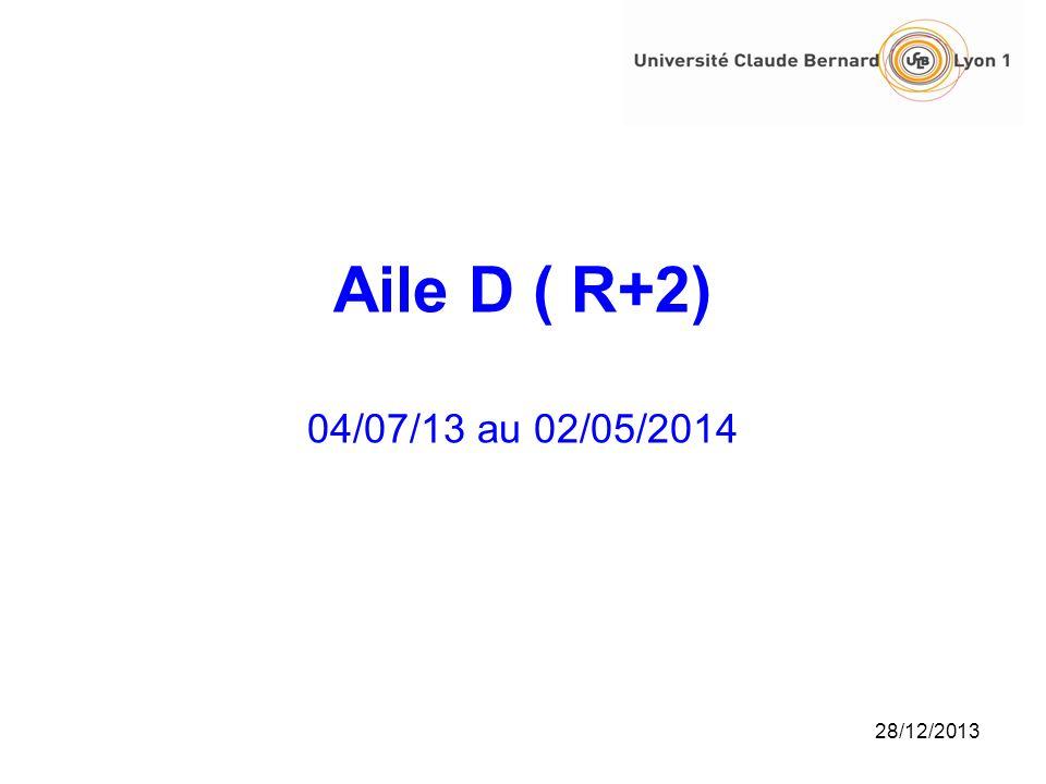 Aile D ( R+2) 04/07/13 au 02/05/2014