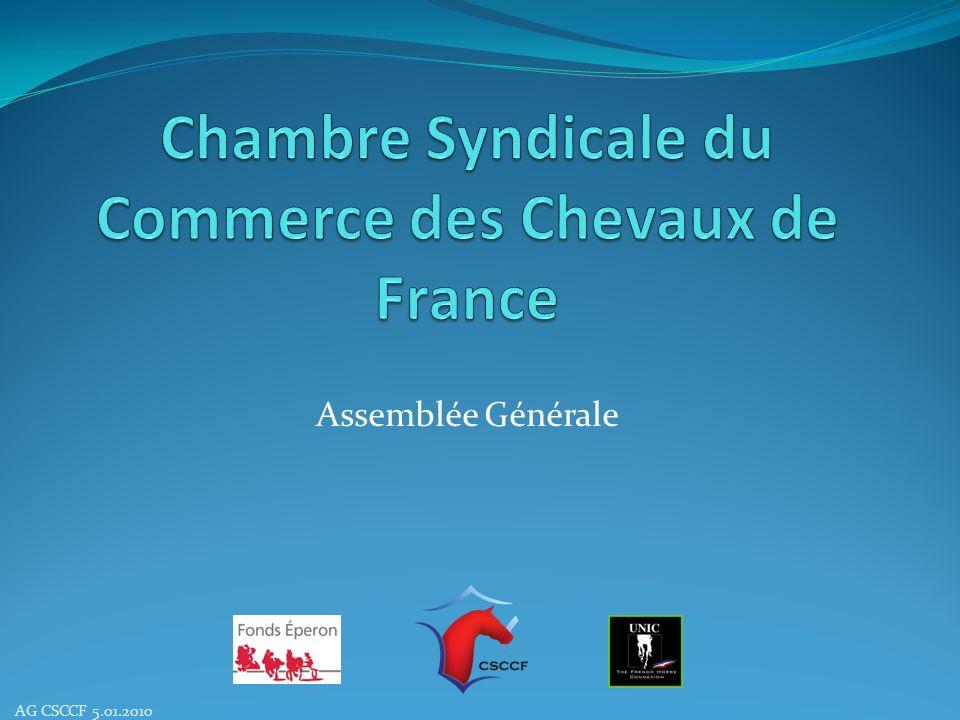 Assemblée Générale Assemblée Générale Extraordinaire AG CSCCF 5.01.2010