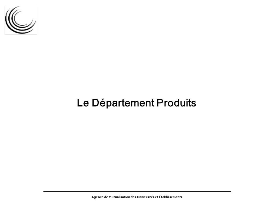 Agence de Mutualisation des Universités et Établissements Le Département Produits