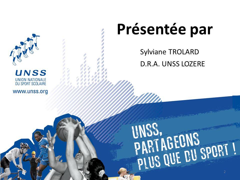 UNSS Lozère 12 Avenue Père Coudrin 48000 MENDE Site : http://unss48.free.fr 1.