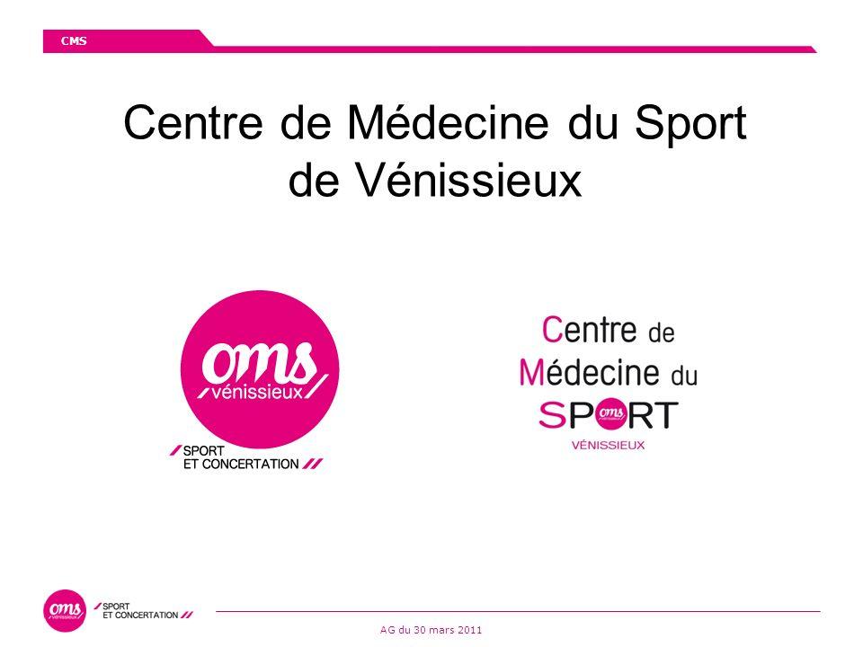CMS AG du 30 mars 2011 Centre de Médecine du Sport de Vénissieux