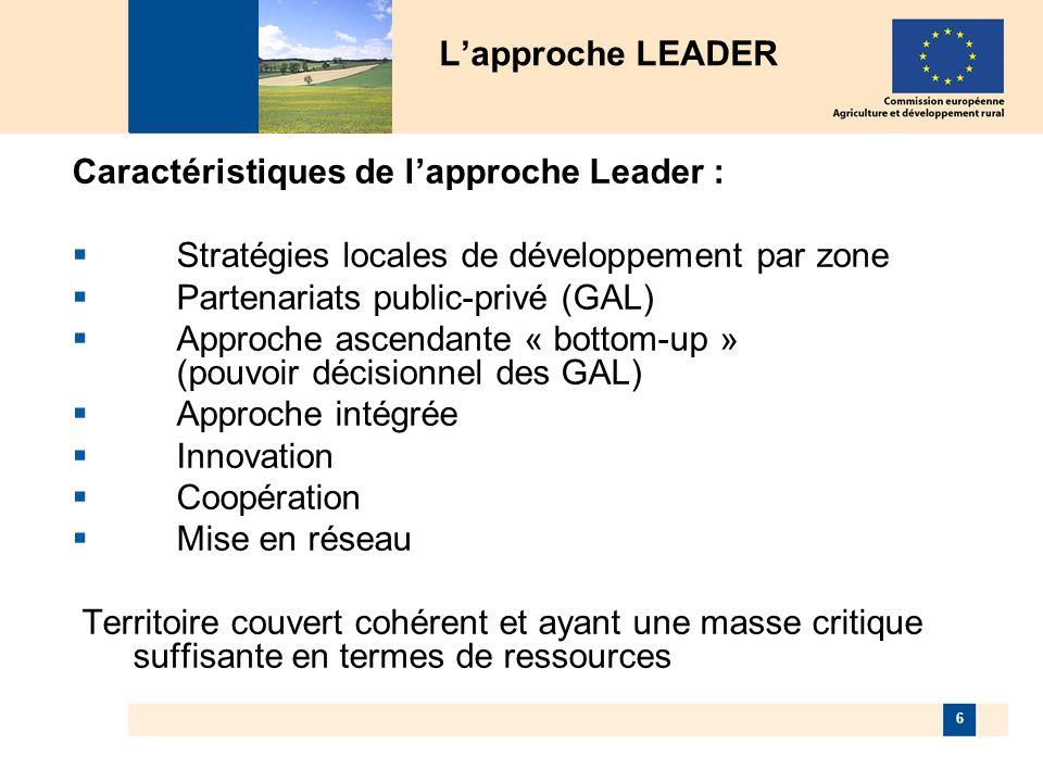 7 Axe1 : Accroissement de la compétitivité => au moins 10% de lallocation communautaire totale Axe 2 : Environnement et gestion du territoire => au moins 25% (10% pour les DOM) Axe 3 : Diversification et amélioration de la qualité de la vie => au moins 10% Axe 4 : Approche LEADER => au moins 5% Equilibre du programme (art.