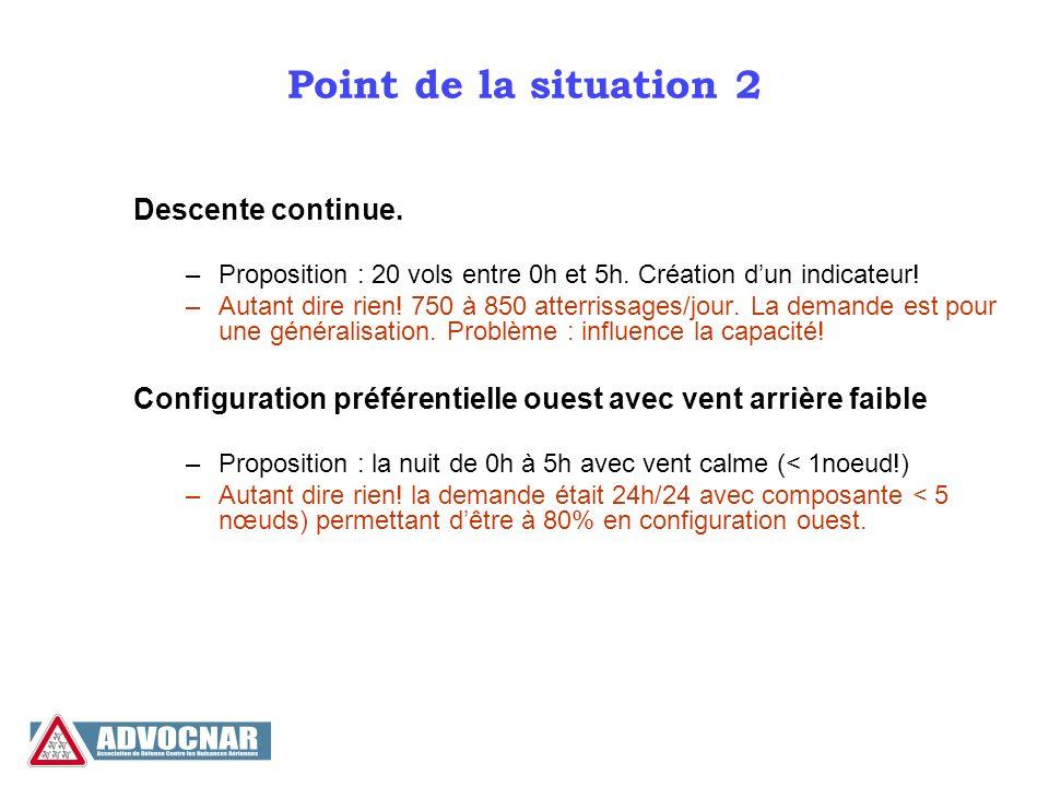 Point de la situation 3 Équilibrage opérationnel Nord – Sud sans croisement.