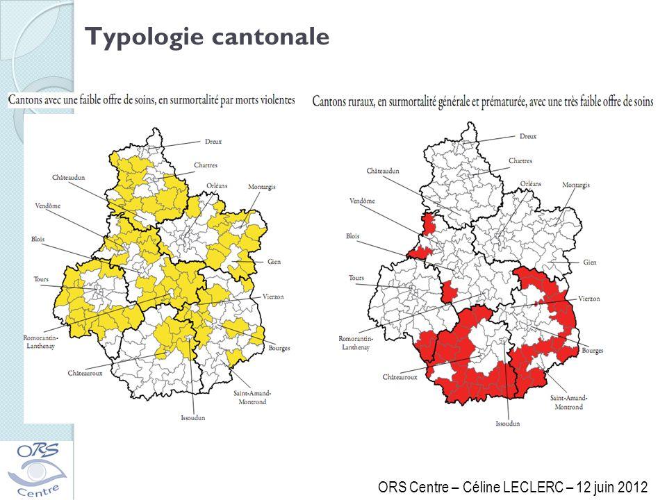 ORS Centre – Céline LECLERC – 12 juin 2012 Typologie cantonale