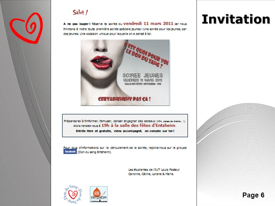 Powerpoint Templates Page 6 Invitation