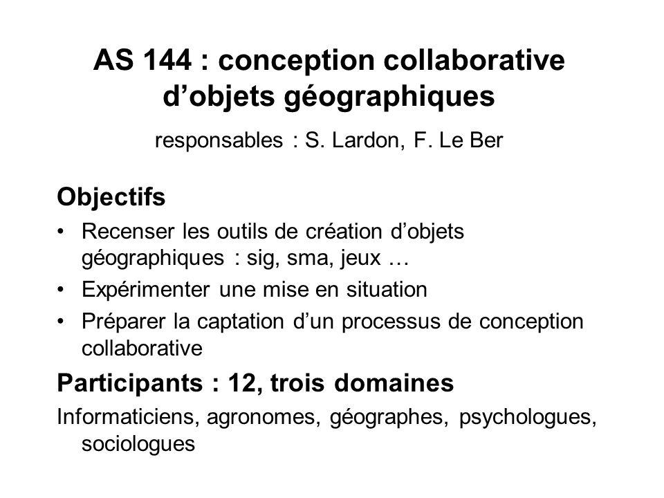 Actions http://asi.insa-rouen.fr/SIG Principe : –Réunions de présentation des travaux –Projets communs (STIC/GTEM): JOYStic (Clermont-Fd) : diagnostic
