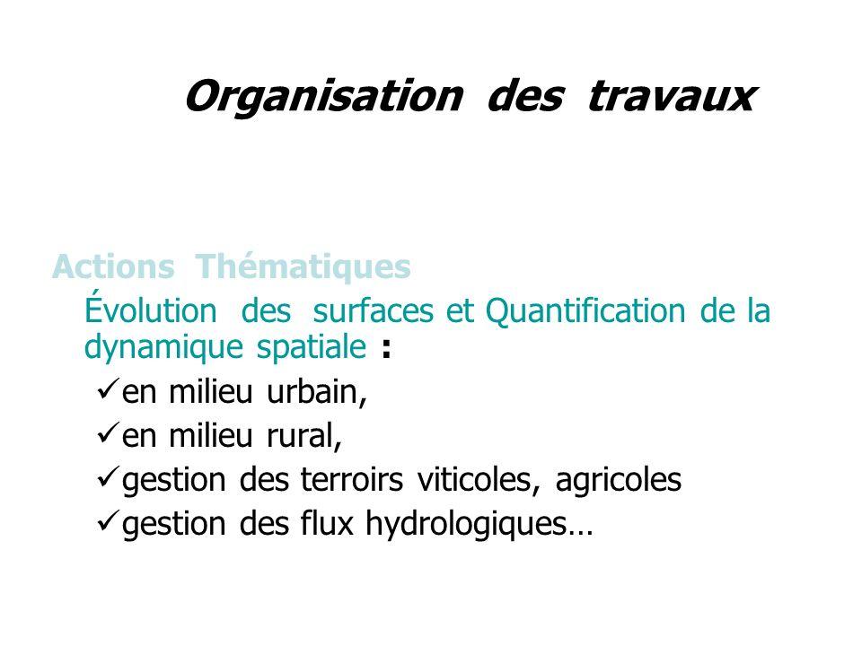 Actions Méthodologiques Description des surfaces : Orientation objets-attributs – information contextuelle Prise en compte des interactions spatiales