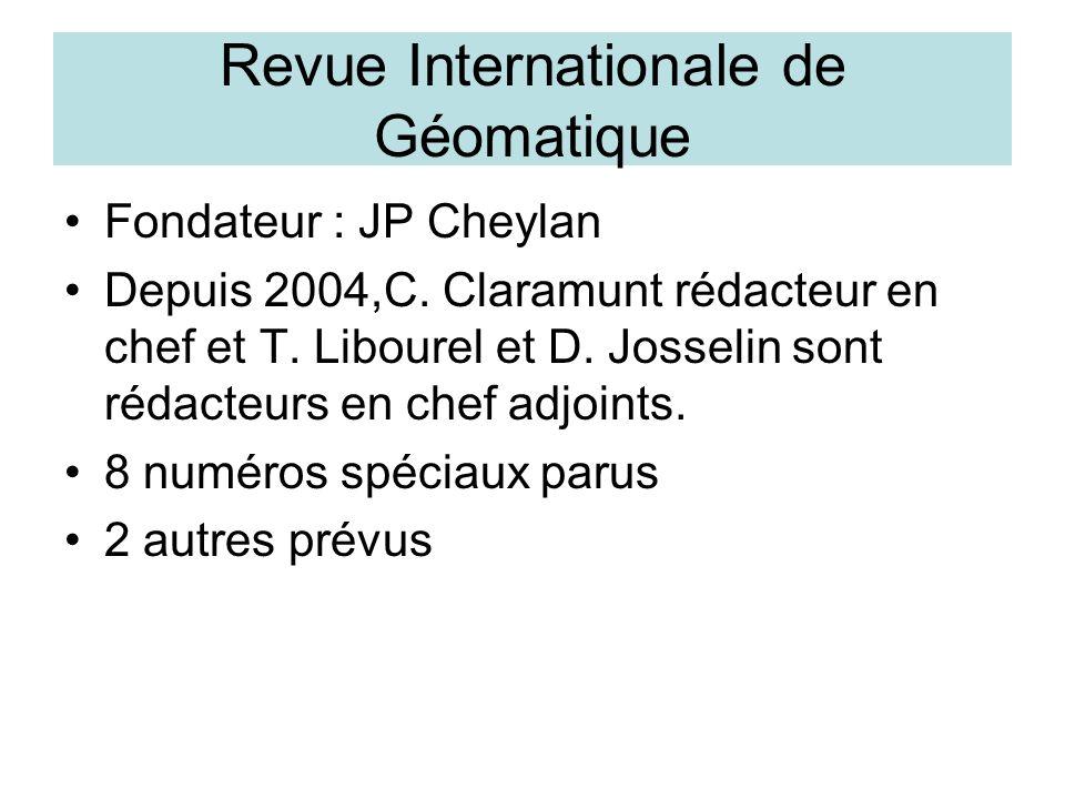 IGAT Information Géographique et Aménagement du Territoire Responsables Pierre Dumolard, Sylvie Servigne et Thérèse Libourel 32 prévus initialement 9