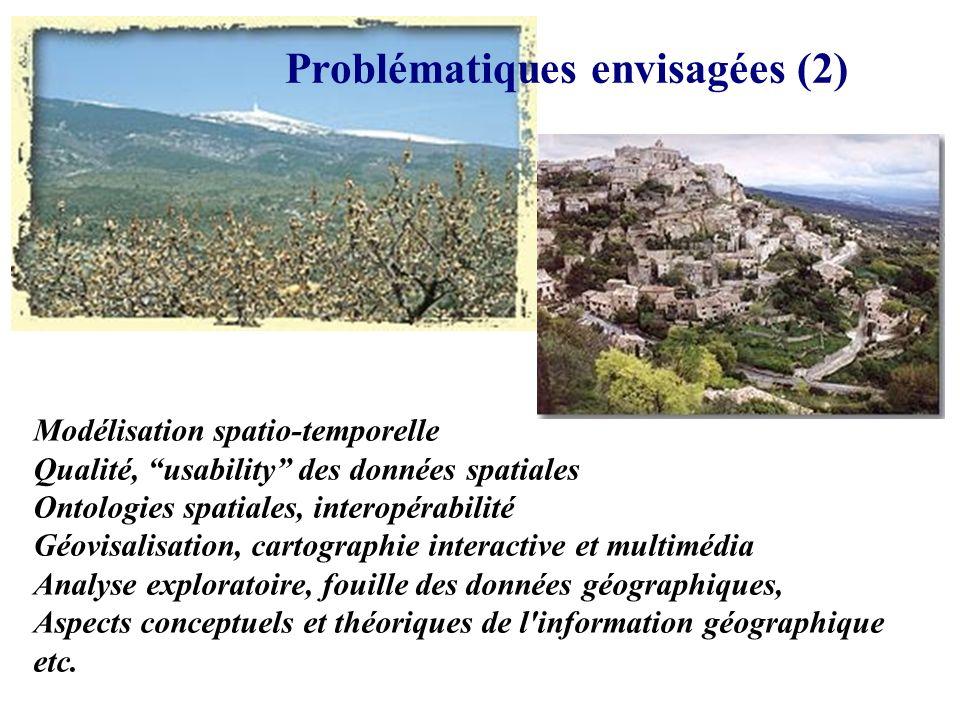 Problématiques envisagées (1) * risques et aménagement, * transport et mobilité, * paysages et (agri)environnement, * TIC, * etc.