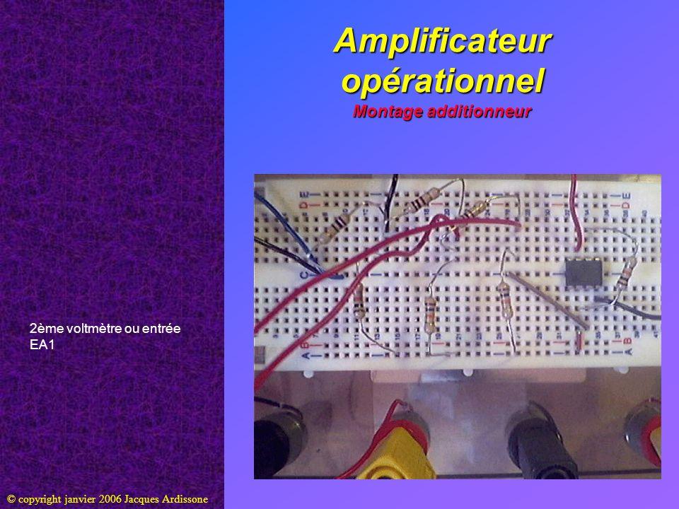 Amplificateur opérationnel Montage additionneur © copyright janvier 2006 Jacques Ardissone 2ème voltmètre ou entrée EA1
