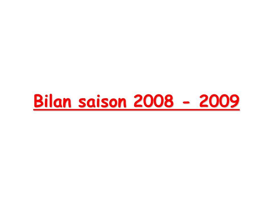 Bilan saison 2008 - 2009