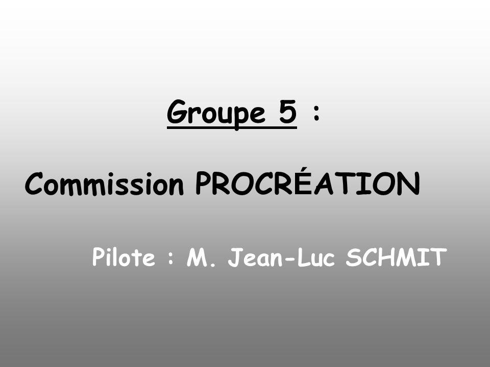Groupe 5 : Commission PROCR É ATION Pilote : M. Jean-Luc SCHMIT