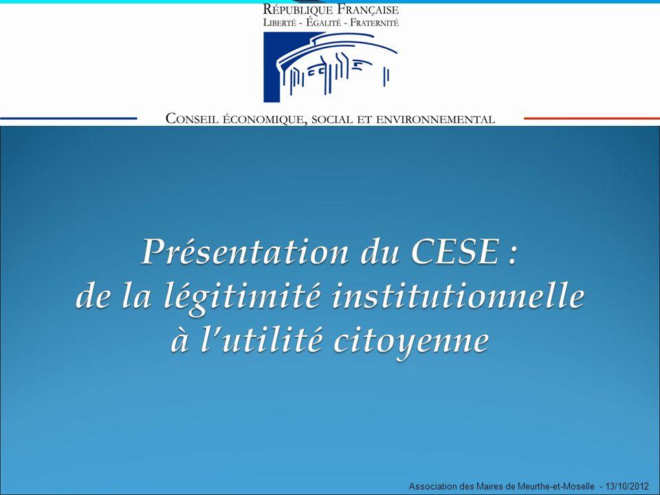 Problématique scolaire Association des Maires de Meurthe-et-Moselle - 13/10/2012