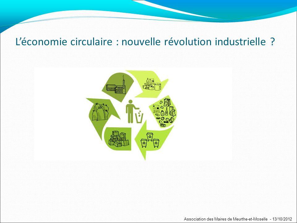 Léconomie circulaire : nouvelle révolution industrielle .