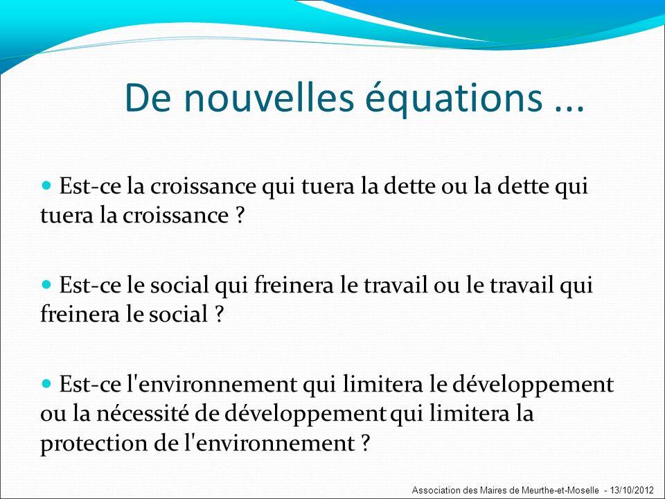 La Dette en France Association des Maires de Meurthe-et-Moselle - 13/10/2012