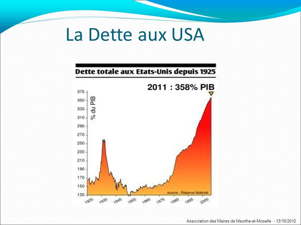 Mais des acteurs du changement en déficit de crédit Association des Maires de Meurthe-et-Moselle - 13/10/2012