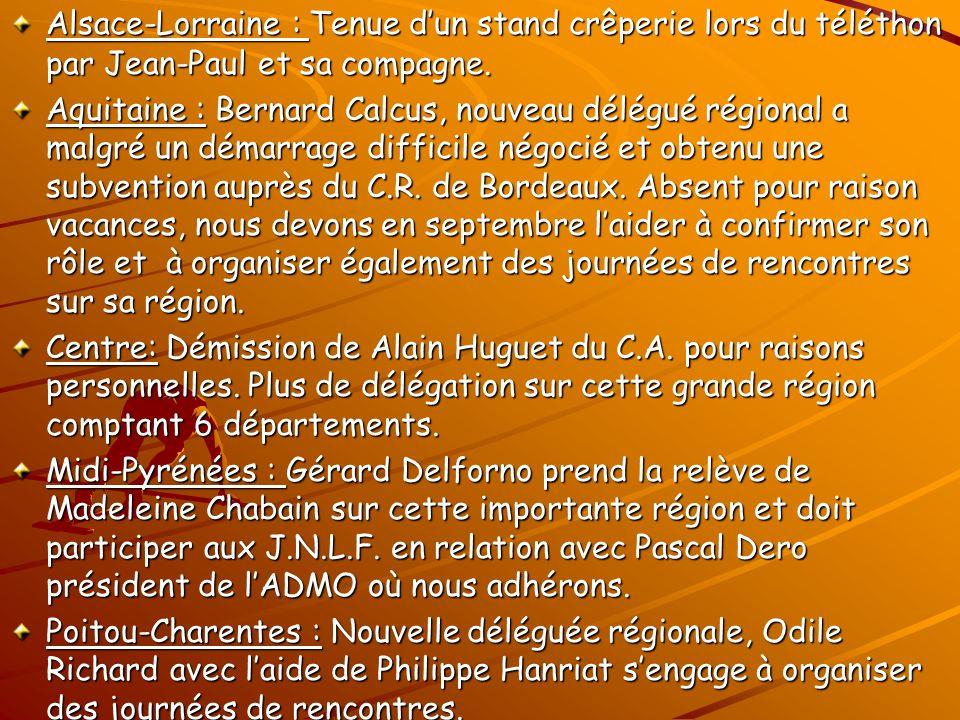 Alsace-Lorraine : Tenue dun stand crêperie lors du téléthon par Jean-Paul et sa compagne.