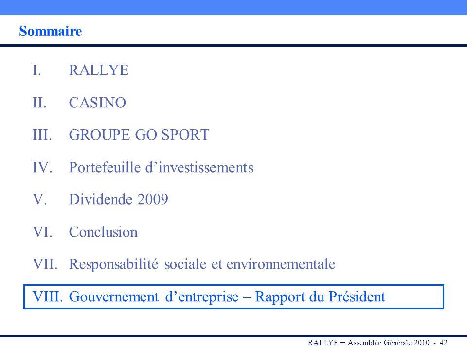 RALLYE – Assemblée Générale 2010 - 41 Développement de la production dénergie solaire : Création de GreenYellow, filiale spécialisée dans la conceptio