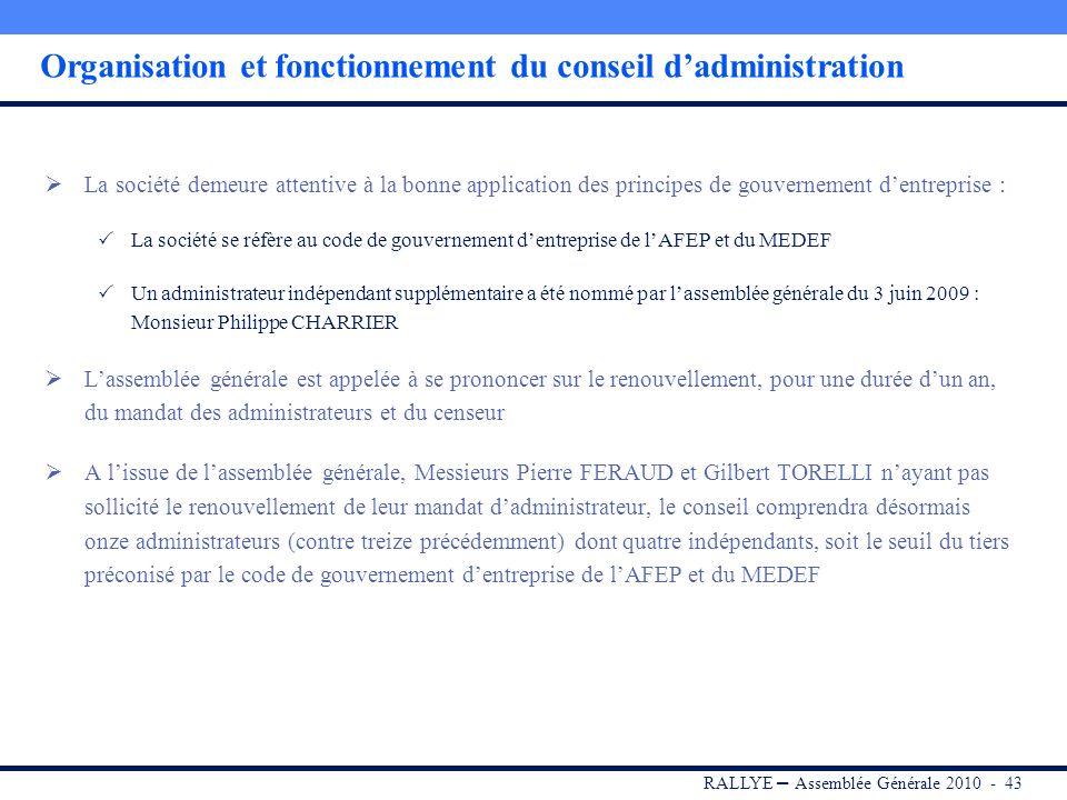 RALLYE – Assemblée Générale 2010 - 42 Sommaire I.RALLYE II.CASINO III.GROUPE GO SPORT IV.Portefeuille dinvestissements V.Dividende 2009 VI.Conclusion