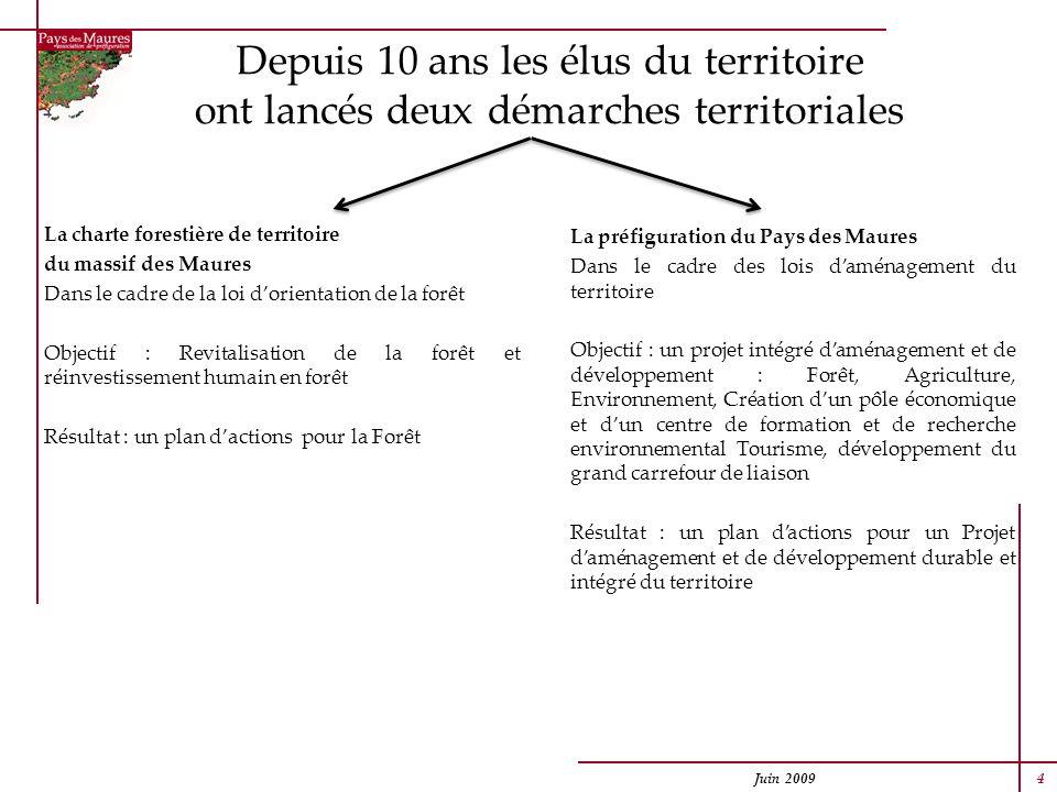 La charte forestière de territoire du massif des Maures Dans le cadre de la loi dorientation de la forêt Objectif : Revitalisation de la forêt et réin