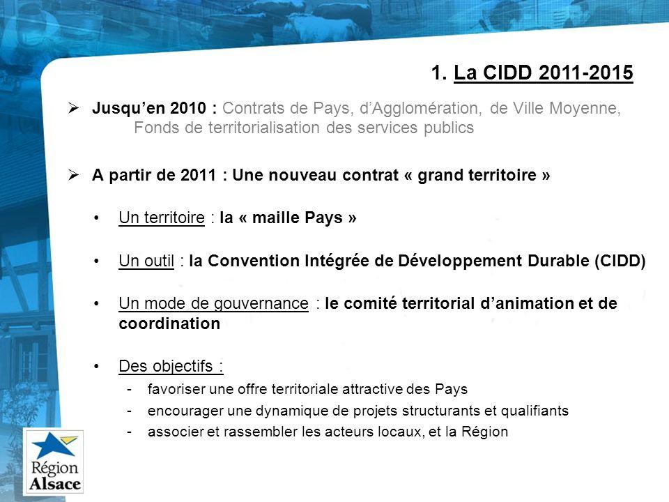 Jusquen 2010 : Contrats de Pays, dAgglomération, de Ville Moyenne, Fonds de territorialisation des services publics A partir de 2011 : Une nouveau con