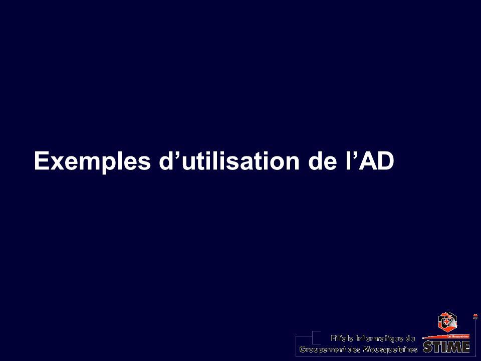 Exemples dutilisation de lAD