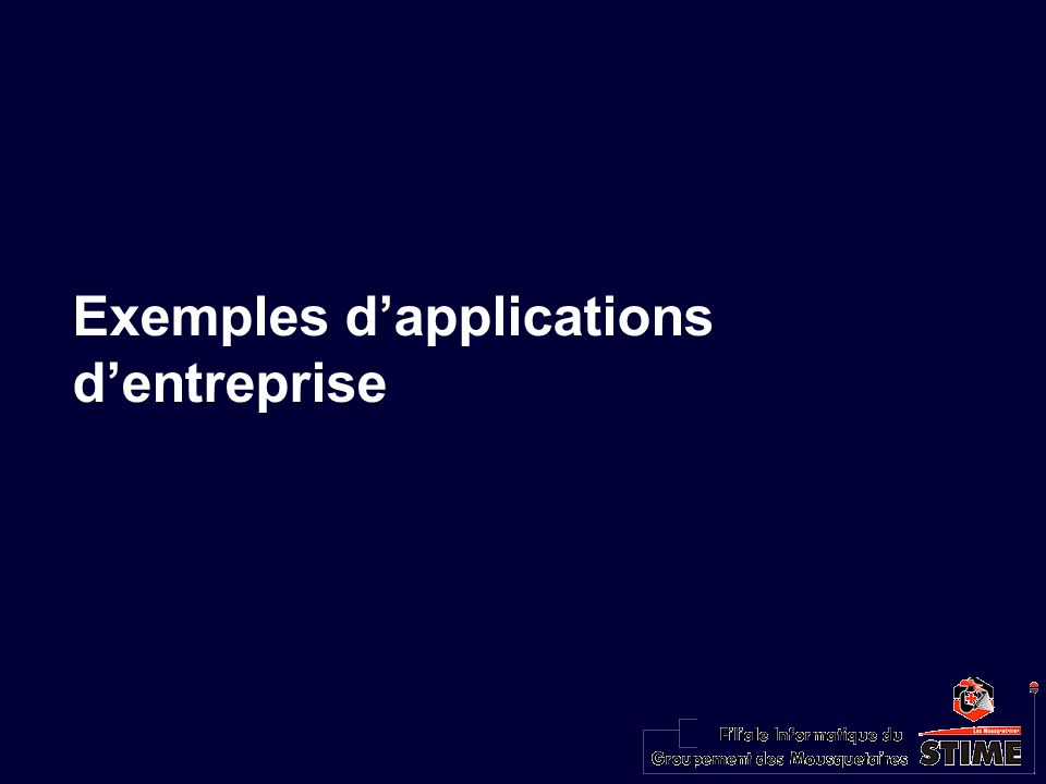 Exemples dapplications dentreprise