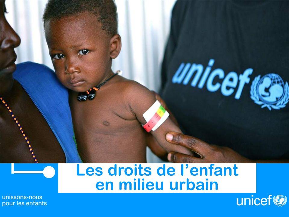 Les droits de lenfant dans les grandes villes Intervention de Barbara BENTEIN, Représentante UNICEF en République démocratique du Congo