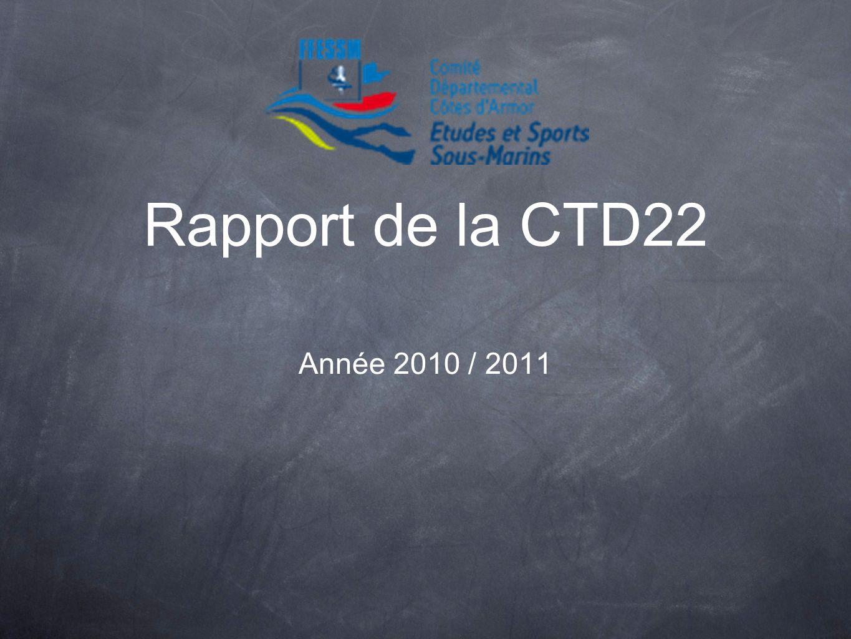 Rapport de la CTD22 Année 2010 / 2011