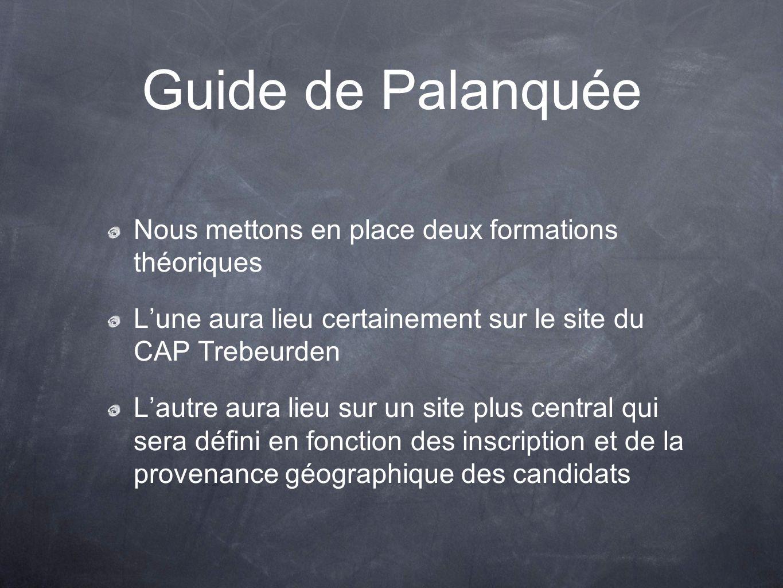 Guide de Palanquée Nous mettons en place deux formations théoriques Lune aura lieu certainement sur le site du CAP Trebeurden Lautre aura lieu sur un