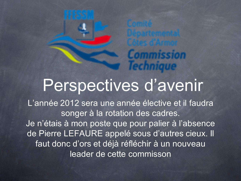 Perspectives davenir Lannée 2012 sera une année élective et il faudra songer à la rotation des cadres. Je nétais à mon poste que pour palier à labsenc