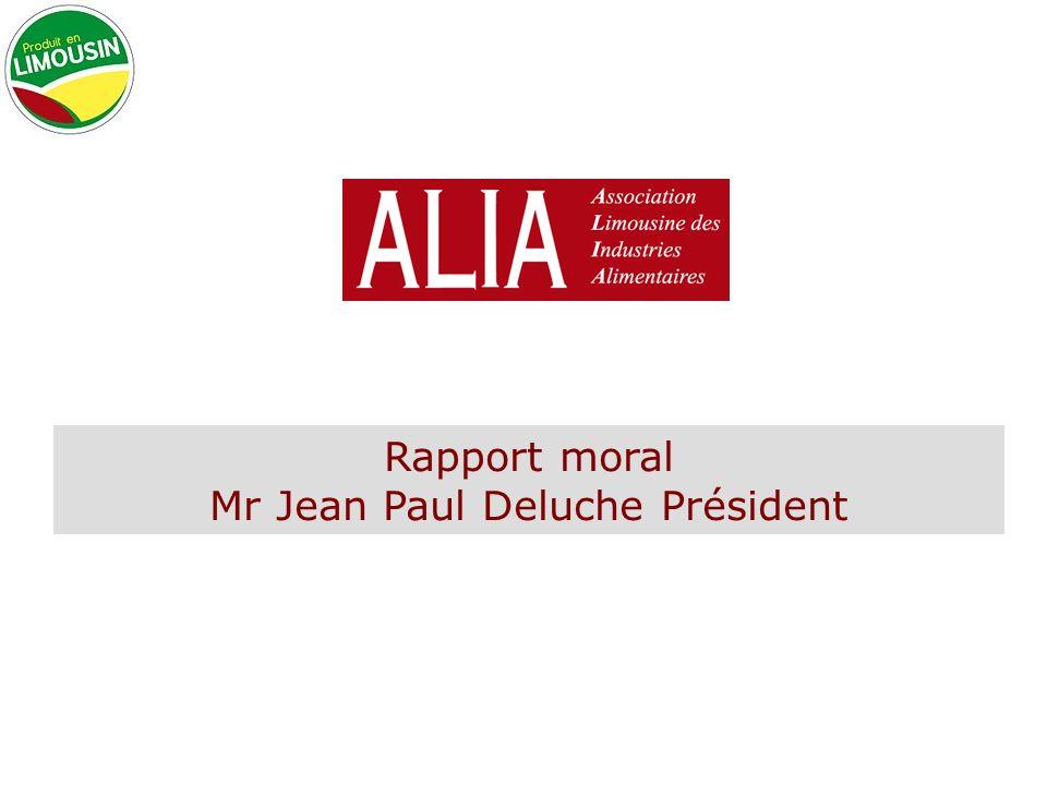 Rapport moral Mr Jean Paul Deluche Président