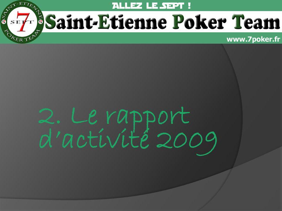 2. Le rapport dactivité 2009