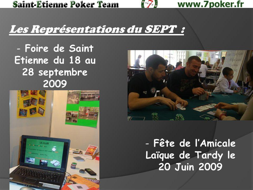 Les Représentations du SEPT : - Fête de lAmicale Laïque de Tardy le 20 Juin 2009 - Foire de Saint Etienne du 18 au 28 septembre 2009