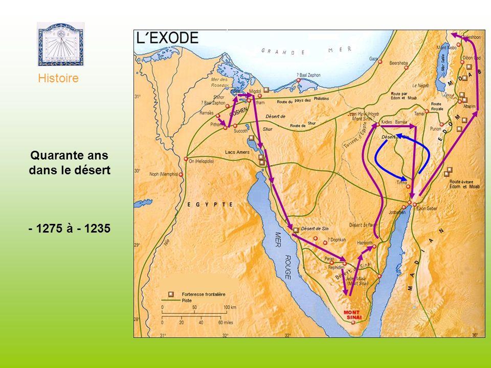 Quarante ans dans le désert - 1275 à - 1235 Histoire