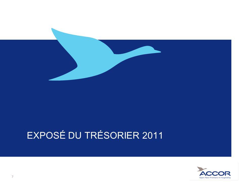 EXPOSÉ DU TRÉSORIER 2011 7