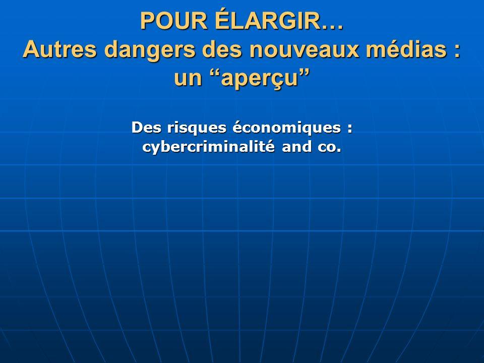 Des risques économiques : cybercriminalité and co.