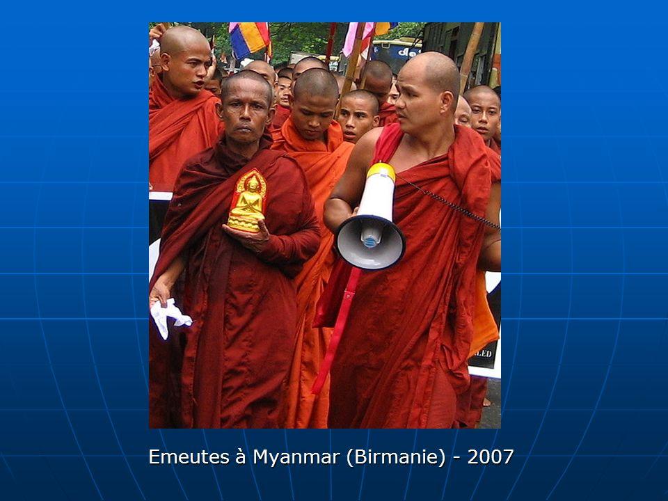 Emeutes à Myanmar (Birmanie) - 2007