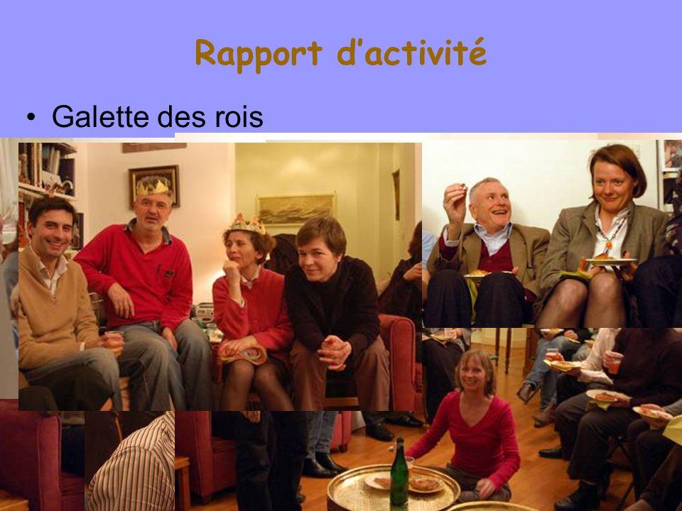 Rapport dactivité Galette des rois WillyLaurent