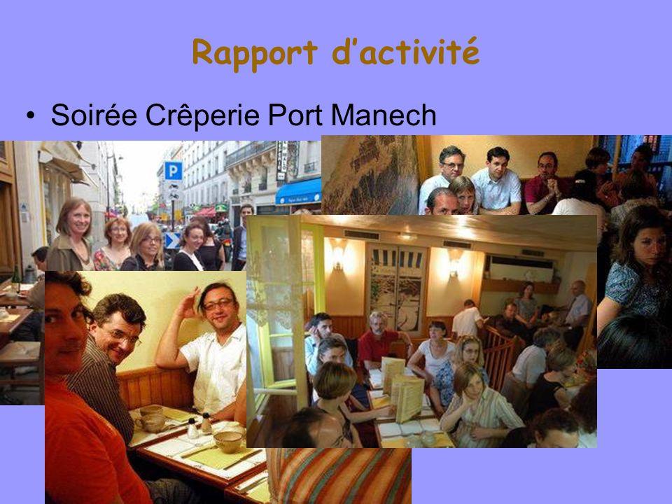 Rapport dactivité Soirée Crêperie Port Manech WillyLaurent